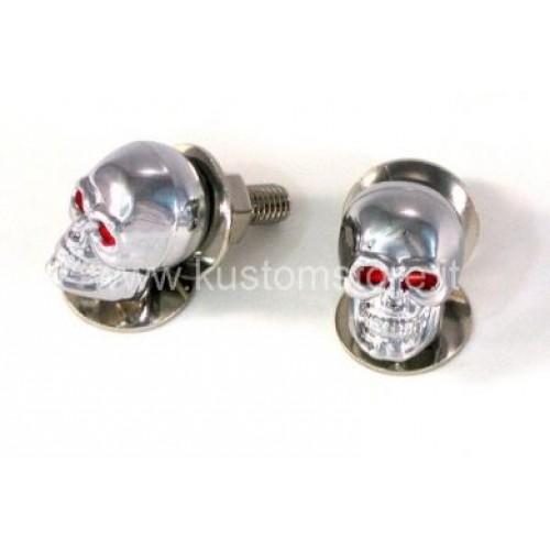Viti con Teschio cromato skull Minuterie