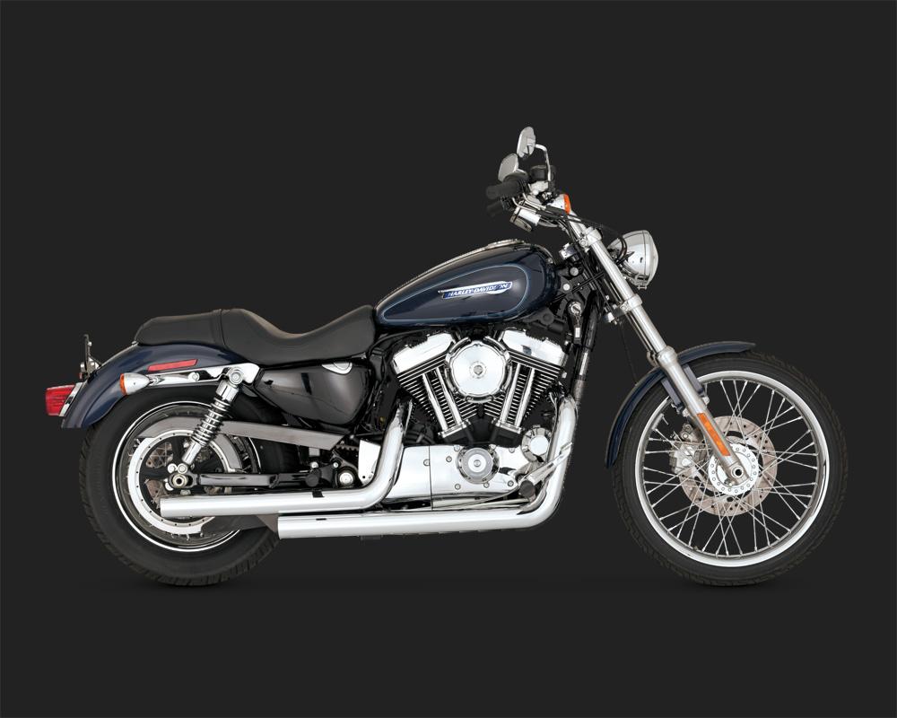 Straightshots Scarico Harley XL 04up Vance & Hines