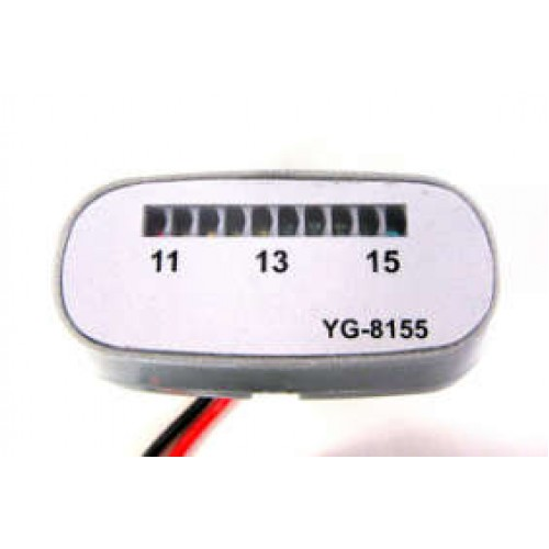 Battery Monitor Silver voltmetro