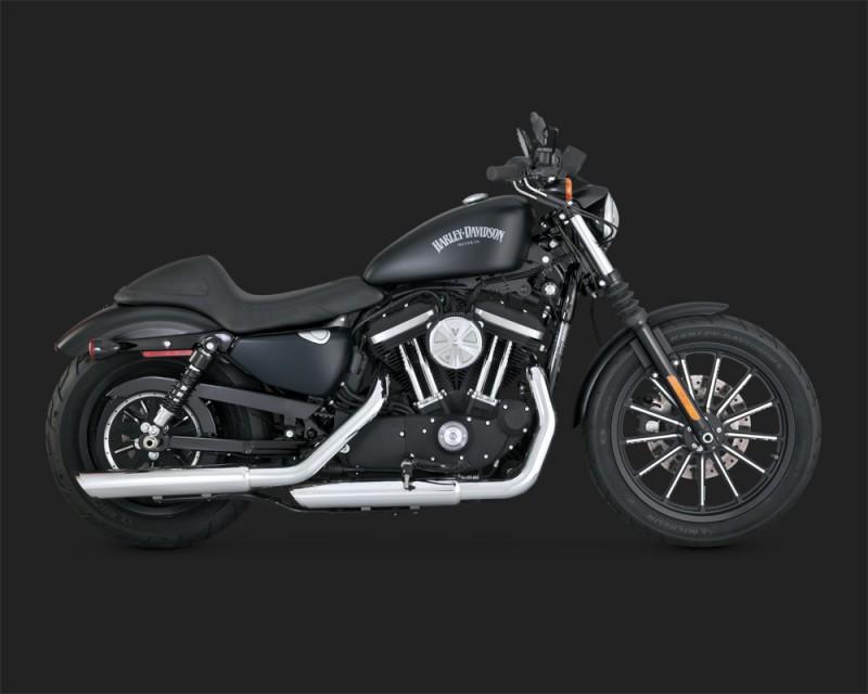 Round Twin Slash Slip ON Cromo Terminali Harley