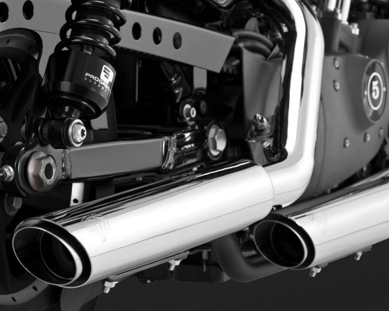 Scarico Omologato per Harley  Twin Slash Cromati Omologati CEE