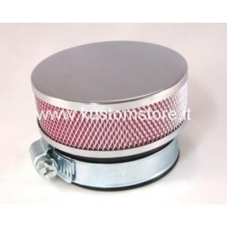 Filtro Aria Flat filter 60 rotonda cromata KIt Filtro Aria