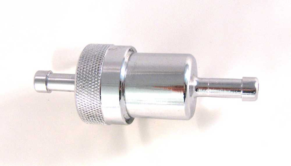 Filtro Benzina metallo cromato e Ottone Filtro Benzina