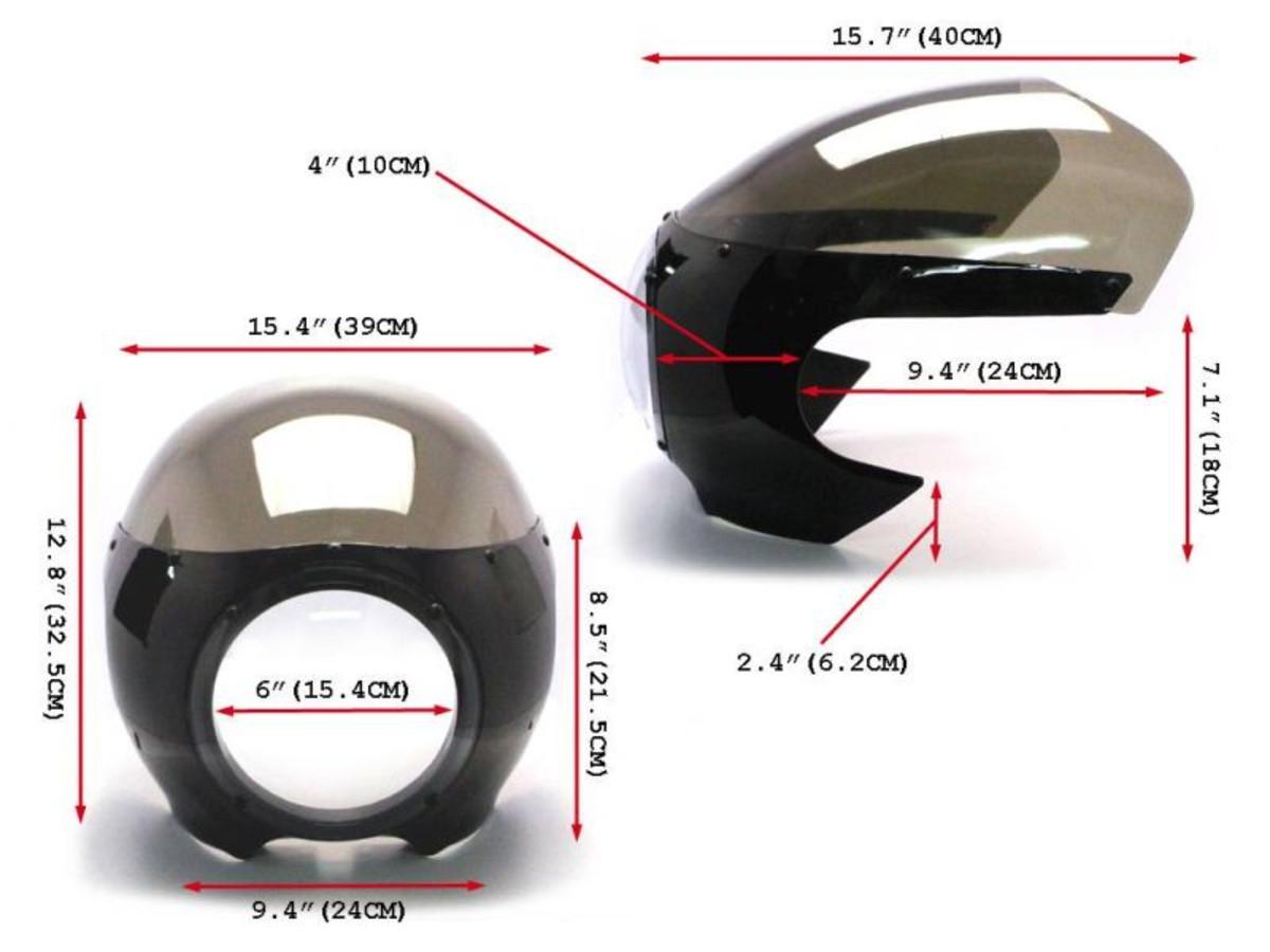 Cupolino modello Bubble per Cafè Racer Cupolini & Parabrezza