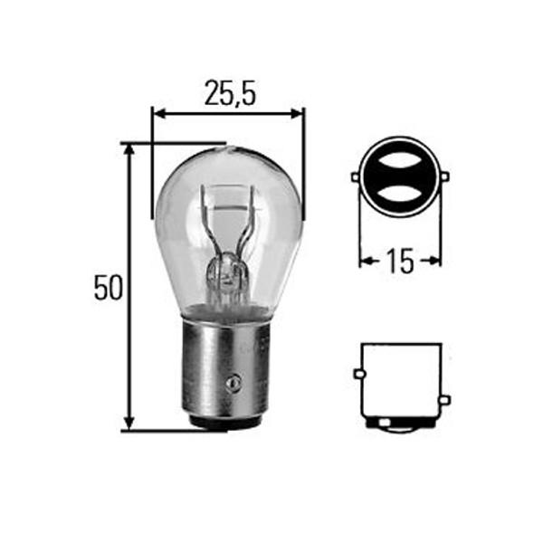 Lampada 12v 21-5w doppio filamento Lampadine