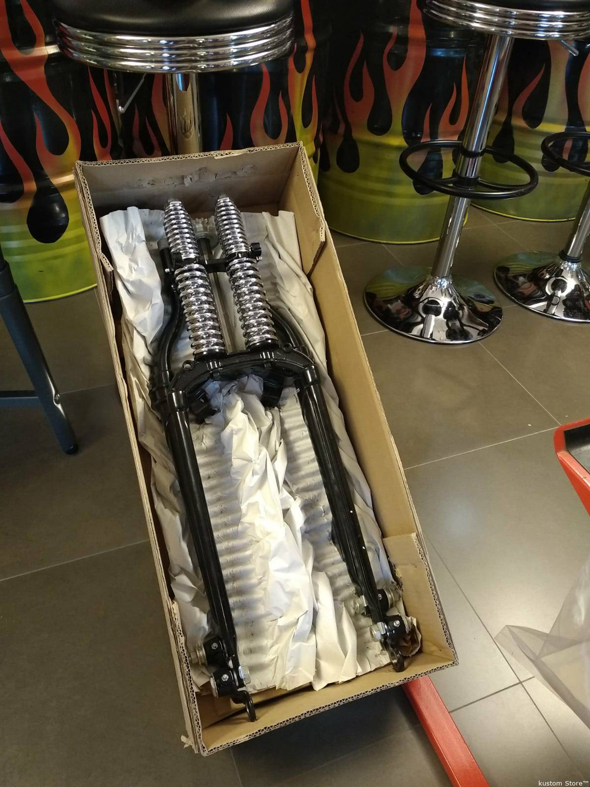 Forcella Springer Harley NERA  Big-Twin Sportster Springer per Harley